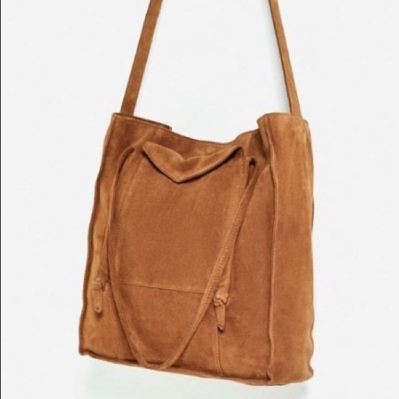 a4d890b669 Zara Bags | Suede Split Leather Tote Bag | Poshmark